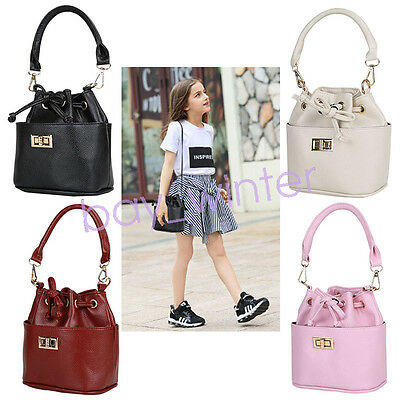 kids girls Princeness handbag PU Leather messenger bags crossbody shoulder bags