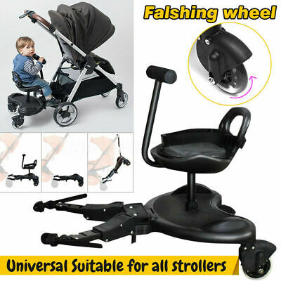 Bumprider Sit Ride On Tandem Seat Board Attachment for Pram/Stroller for Toddler