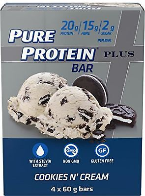 Pure Protein Plus - cookies n' cream bar (4-pack), 4 Count