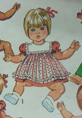 "Vintage 1973 Sewing Pattern Doll's Clothing Baby Dress Simplicity 5947 18""-20"""