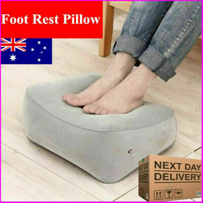 New Travel Foot Rest Footrest Leg Pillow Flight Memory Foam Cushion Hammock MN