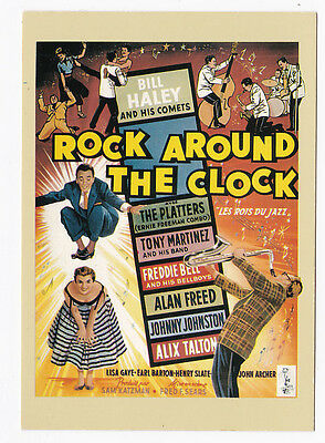 BILL HALEY AND HIS COMETS carte postale n° 6 ROCK AROUND THE CLOCK