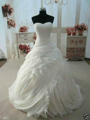 New Bridal Gown Ball Wedding Dress White/Ivory Custom Size 4 6 8 10 12 14++++++
