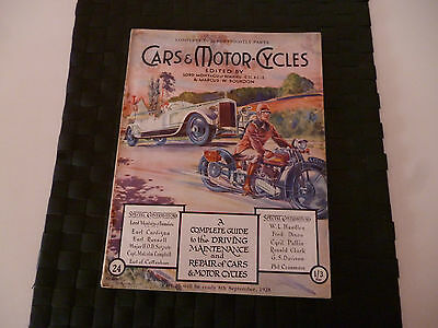 Cars & Motorcycles Lord Montagu Of Beaulieu Part 24 August 25 1928 *amazing*