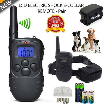 Dog Electric Training Collar Remote E-collar with Beep/Vibration/Shock Electric