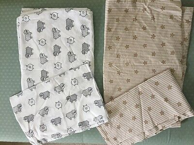 zara home cot bed duvet set x 2 bundle immaculate never used!!