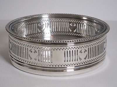 "Antique Gorham Silver Plate 8.5"" Ferner Centerpiece Bowl w/ Glass Liner c.1910"