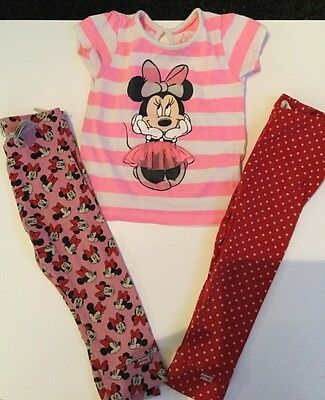 Girls Minnie Mouse Bundle 9-12 Months