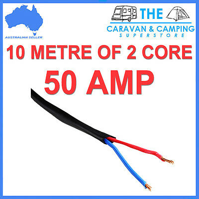 6MM TWIN CORE CABLE x 10 METRE ROLL 10M SHEATH WIRE DUAL BATTERY 12V