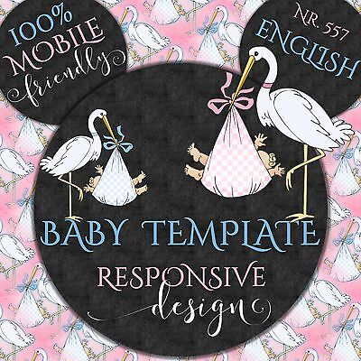 Baby Reborn ~ Auction Listing Template Mobile Responsive Policy Compliant |557/E
