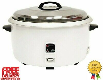 SQ Professional Ltd Electric Automatic Rice Cooker - 6 Litre Stell Lid 2000w