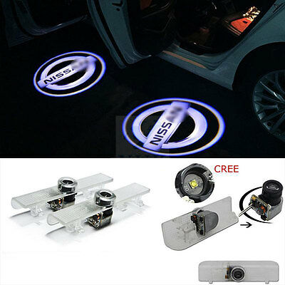 2Pcs LED Door Step Welcome Light Projector Logo Shadow For Honda Accord Car