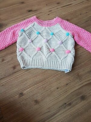 5 baby girl jumpers age 12-18 months