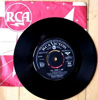 Vgc+ Elvis Presley All That I Am / Spinout Rca 1545 Vinyl 45