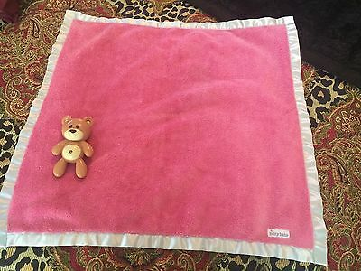 AMERICAN GIRL BITTY BABY PINK PURPLE SATIN SECURITY BLANKET with Toy