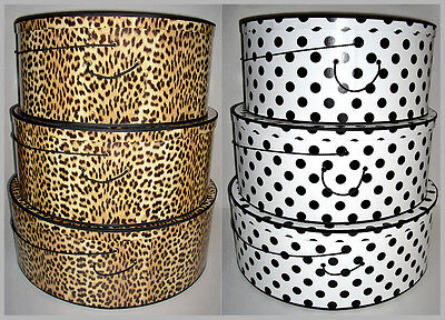 "SUPERSIZE ~ 20"" ~ 22"" & 24"" x 9"" Deep ~ Millinery HATBOXES ~ Stack of 3 ~ Choice"