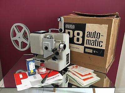Vintage Eumig P8 Automatic 8mm Projector In Working Condition