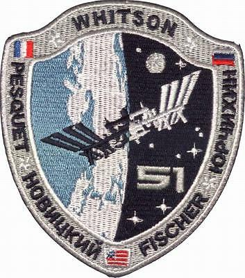 Ecusson Expedition 51 ISS Station Spatiale Internationale Soyouz Thomas Pesquet
