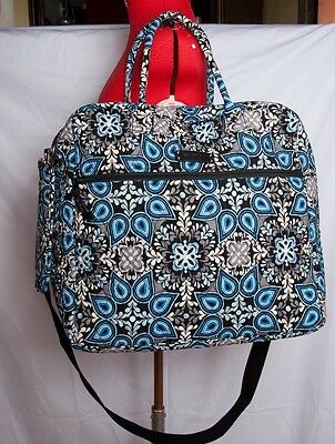 Vera Bradley Grand Cargo Travel Bag Carry On Weekender in Canterberry Blue