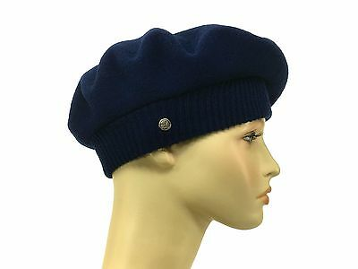 fe203bee Laulhere French Wool Hat La Parisienne Soft Dark Blue Beret Made In France  6 7/