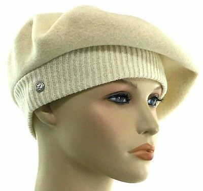 911e7964 Laulhere French Wool Soft Beret Hat La Parisienne Natural Made In France 6 7 /8