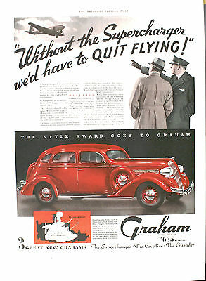 1936 GRAHAM Supercharger   - Authentic ad