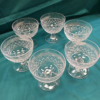 Set Of 6 Webb Crystal Dessert Glasses