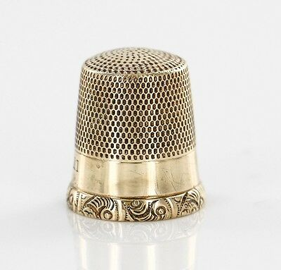 Antique Filgree Thimble 11 Solid Gold 10kt 417 Collectible Sewing No Mono