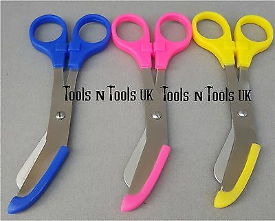 "S. Steel 5-1/2"" Tough Cut Emergency Scissors Shears EMT Bandage Nursing 3 Colors"