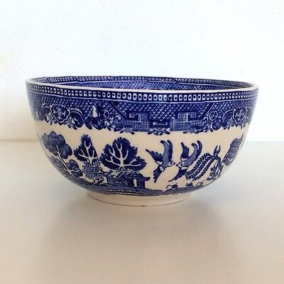 Alfred Meakin Blue & White Transferware Old Willow 1930's Open Sugar Bowl