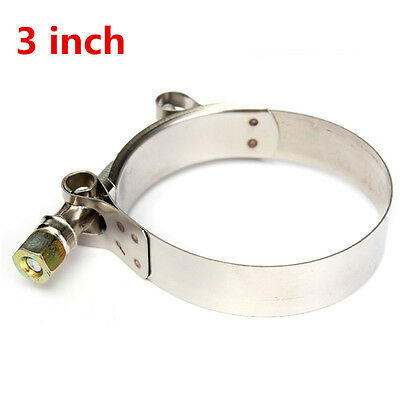 3 Inch T-Bolt Clamps Fastening Turbo Pipe Silicone Hose Coupler