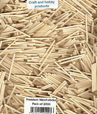 PACK OF 2000 PREMIUM MATCHSTICKS FOR MODEL MAKING AND CRAFT, Not Ex KIT