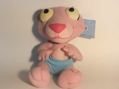 New Authentic Baby PINK PANTHER plush toy by Nanco w tags not avail in stores
