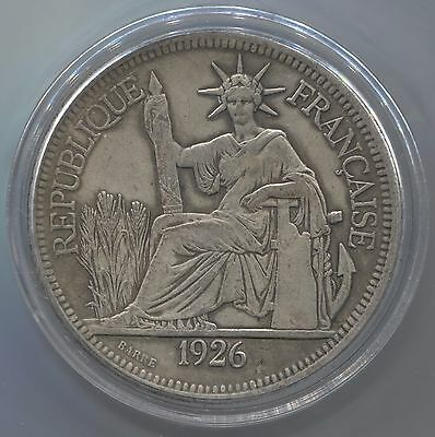 1926 French Indo-China Piastre Silver Coin!!!