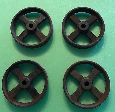 Antique Hit & Miss Engine Cart Wheels, (4)