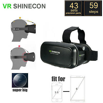3D Vr Shinecon Video Glasses Virtual Reality For Iphone 6S