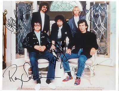 Traveling Wilburys Signed 8X10 RP Photo Bob Dylan George Harrison Tom Perty