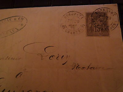 France 2 letters 1877/78 with 15c sage stamps