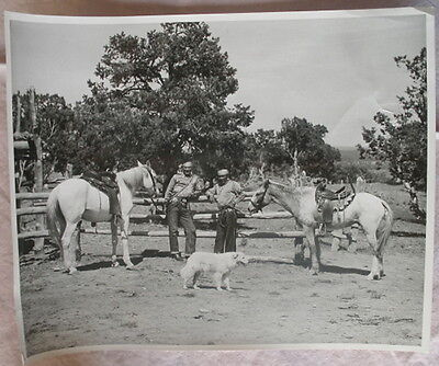 Original Photo Of Navajo Horsemen With Their Horses At The Corral