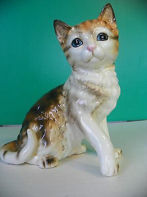 Adorable ceramic cat 7 1/4 inches tall