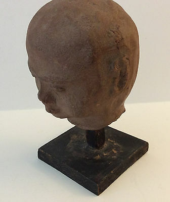 Roman Terracotta Head of Young Boy w/Early Mount