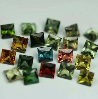 20 Turmaline (VVS) Carre 3,5x3,5mm 4,9Ct.