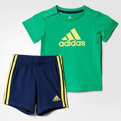 adidas boys baby/infant 3 stripe shorts & top set. Summer set. Ages 0-24M