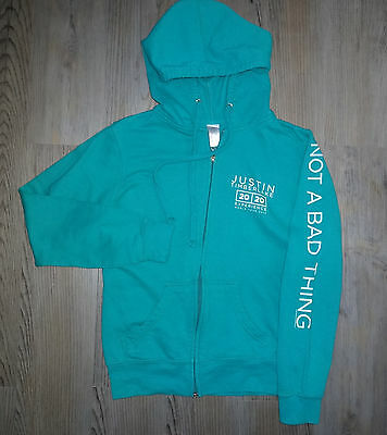 Justin Timberlake 20/20 Experience World Tour 2013-14 Zip Up Hoodie Small Blue