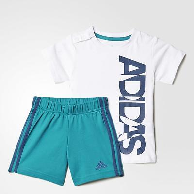 adidas boys baby/infant 3 stripe shorts & top set. Summer set. Ages 0-4 Years