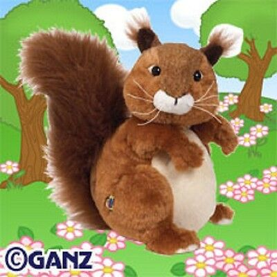 ( RED SQUIRREL ) - Webkinz - HM404 - Plush Stuffed Toys - New Unused Sealed Code