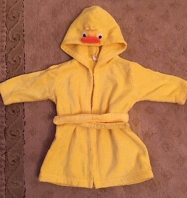 Cute Duck Towelling Baby's Dressing Gown, 0-9 Months
