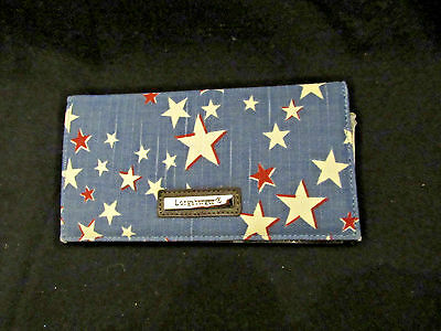 Longaberger CHECKBOOK COVER~Starburst Fabric~Stars~Check Book Cover/Card Insert