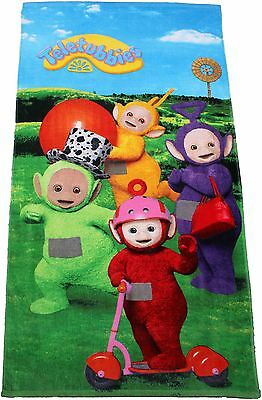 Teletubbies Dipsy Tinky-Winky Laa-laa and Poh Large Beach Towel By BestTrend