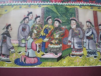 two antique chinese watercolour paintings on rice paper amazing detail 33x16cm